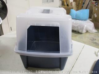 Iris- Large Split Hood Litter Box w/ Scoop & Grate