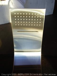 $255 shower panel brushed nickel finish