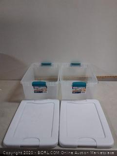 Sterilite latching box 15 quart - 2 Pack