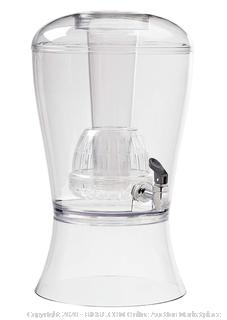 CreativeWare Beverage Dispenser With Ice Cylinder And Fruit Infuser, Clear