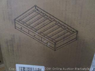 Bed w3 Drawer Oak kit pieces