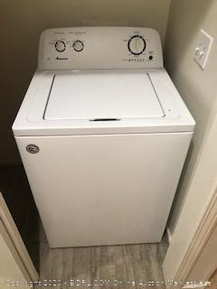 """Furniture Lot Including Samsung 65"""" TV (powers on) with remote,  dresser, sectional (incomplete set)  Accent Chair, Bunk bed,mattress topper , Dining table and chairs ( some  damage) , Amana washer, Chest, Stove with oven - pick up for this auction is a different location"""
