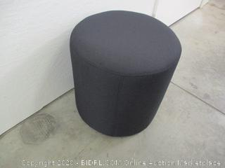 Flash Furniture Barrington Upholstered Round Ottoman Pouf in Black Fabric ($59 Retail)
