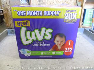 Luvs Diapers Size 1 (Box Damage)