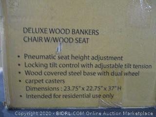 Deluxe Wood Bankers Chair w/wood Seat