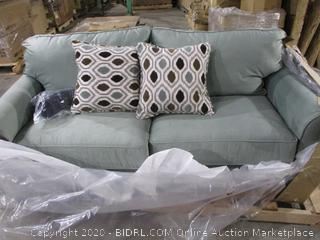 Full Apt Sofa with accent pillows