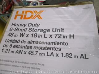Heavy Duty 6 shelf Storage Unit