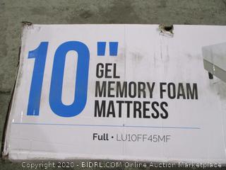 "Lucid 10"" Gel memory foam Mattress Full"
