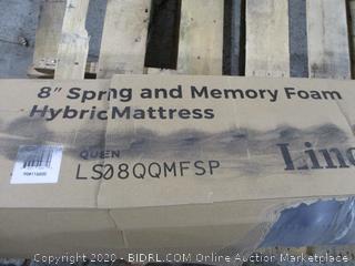 "Linenspa 8"" Spring and Memory Foam Hybrid Mattress Queen"