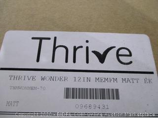 Thrive wonder 12 in Memory foam mattress