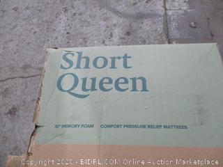 "Zinus short Queen 10"" Memory foam Mattress"