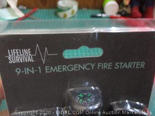 Lifeline Survival 9 in 1 Emergency Fire Starter
