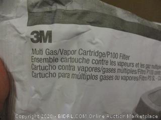 3M multi gas/vapor Cartridge/P100m filter