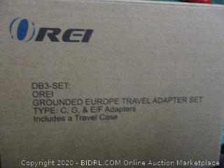 Grounded Europe Travel Adapter set