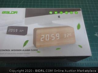 Baldr Control Wooden Alarm Clock