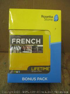 Rosetta Stone French Bonus Pack