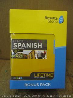 Rosetta Stone Spanish  Bonus Pack