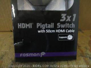 3 x 1 HDMI Pigtail Switch with 50cm HDMI Cable