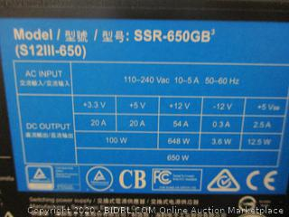 Seasonic 650 Watts Power Supply