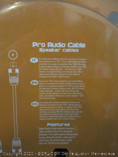 SLOS Pro Audio Cable Speaker Cables