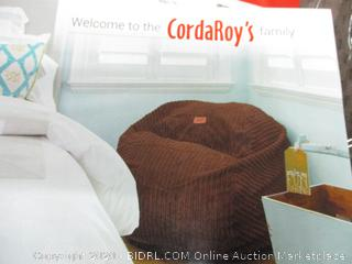 CordaRoy's Chenille, Convertible Chair Folds Bed, King Size Bean Bag (Retail $250)