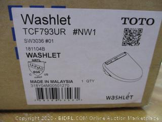 TOTO SW3036#01 K300 WASHLET Electronic Bidet Toilet Seat with Instantaneous Water Heating with PREMIST and SoftClose Lid