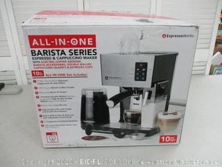 All-In-One Barista Bundle Espresso Machine & Cappuccino Maker, 19 BAR Pump Set w/ Built in Milk Steam & Frother