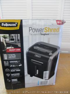 Fellowes Powershred 79Ci 100% Jam Proof Medium, Duty Cross, Cut Shredder, 16 Sheet Capacity, Black/Dark Silver (Retail $225)