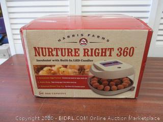 Harris Farms Nurture Right Incubator 360 Degree & View(Retail $155)
