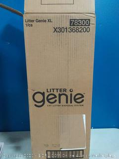 Litter Genie XL Pail, Ultimate Cat Litter Disposal System, Locks Away odors, Includes One Refill, Silver
