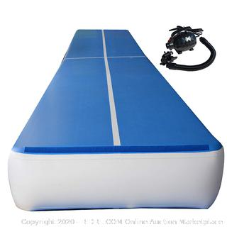 PreGymnastic Airtrack Tumbling Mat Thickness P3, Inflatable Gymnastics Mat with Electric Air Pump 39' x 6' x .66' (online $1,000)