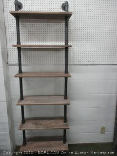Pipe Style Six Section Shelf