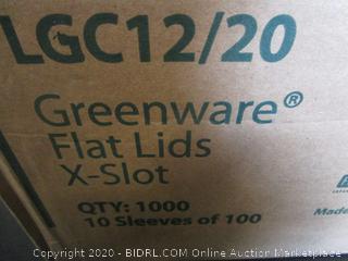 Greenware Flat Lids X-Slot