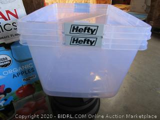 Hefty Storage Containers (no lids)