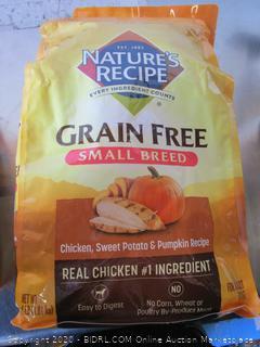 Nature's Recipe Grain Free Chicken Small Breed Dog Food 4# Kibble