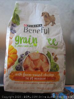 Purina Beneful Grain Free Chicken Dog Food 3# Kibble