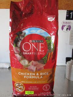 Purina One SmartBlend Chicken & Rice Dog Food 8# Kibble
