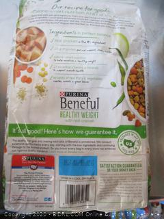 Purina Beneful Healthy Weight Chicken Dog Food 3.5# Kibble
