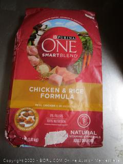 Purina One SmartBlend Chicken & Rice Dog Food 4# Kibble