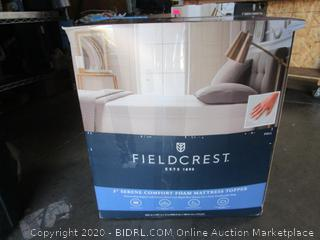 Fieldcrest Serene Comfort Foam Mattress Topper