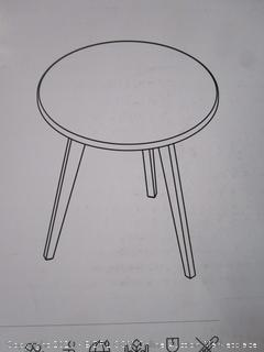 3-Legged Bambo End Table