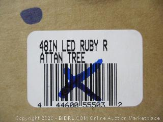 "LED Ruby Rattan Tree (48"")"