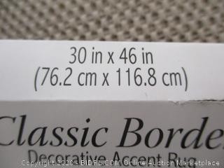 "Classic Border- Decorative Accent Rug (30"" x 46"")"