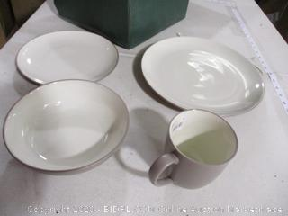 Noritake-Colorwave- Place Setting- 4 Piece- Clay