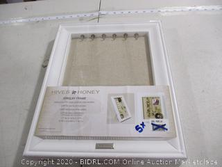 "Hives Honey- Jewelry Frame- Sealed (12""W x 1 3/4""D x 15""H)"