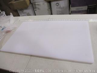 Plastic Cutting Board 18x30 White, NSF Approved Commercial Use