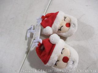 Sleepy Time- Santa Face Slipper- 6 to 12 months