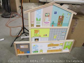 Hape- Doll Family Mansion ( frame broken, please see picture)