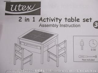 Utex- 2 in 1 Activity Table Set