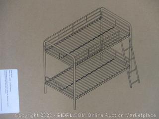 Metal Bunk Bed Size Twin (Box Damage)